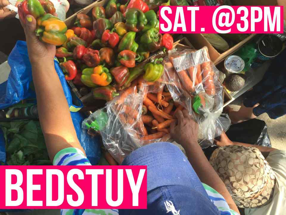 The Community Solidarity BedStuy Food Share shares free vegan groceries with the hungry on Long Island